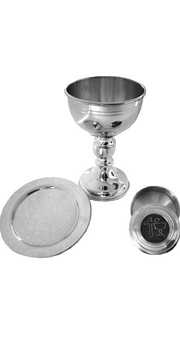 Pewter gift set with case