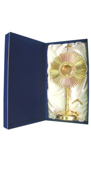 Gold plated Monstrance + Case Set