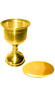 Gold Plated Chalice and paten Set