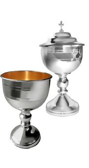 Chalice and Ciborium (Gold plated 24 Kt cup)