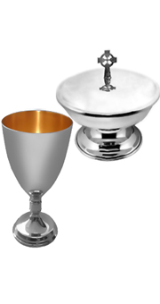 Chalice and Ciborium with celtic cross