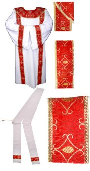 White Dalmatic + Stole for Deacon