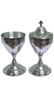 Chalice and Ciborium with squared cross