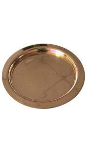 Huge Paten - gold plated 24 KT