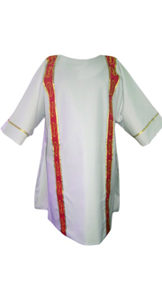 White Dalmatic with Red Orphrey