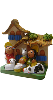 Andean nativity scene - House