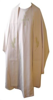 Beige Chasuble + Stole